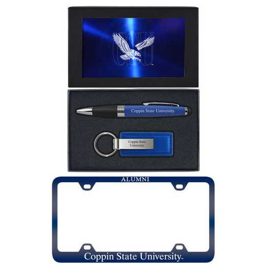 SET-A3-COPPIN-BLU: LXG Set A3 pen KC Tag, Coppin State